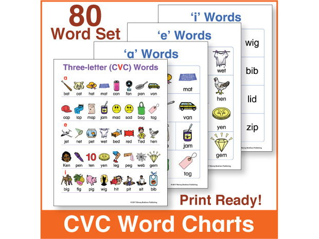 3 letter words with x three letter cvc word charts 80 word set by 20084 | TN1.crop 620x466 90,0.preview