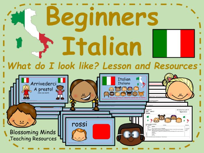 Italian lesson : What do I look like?