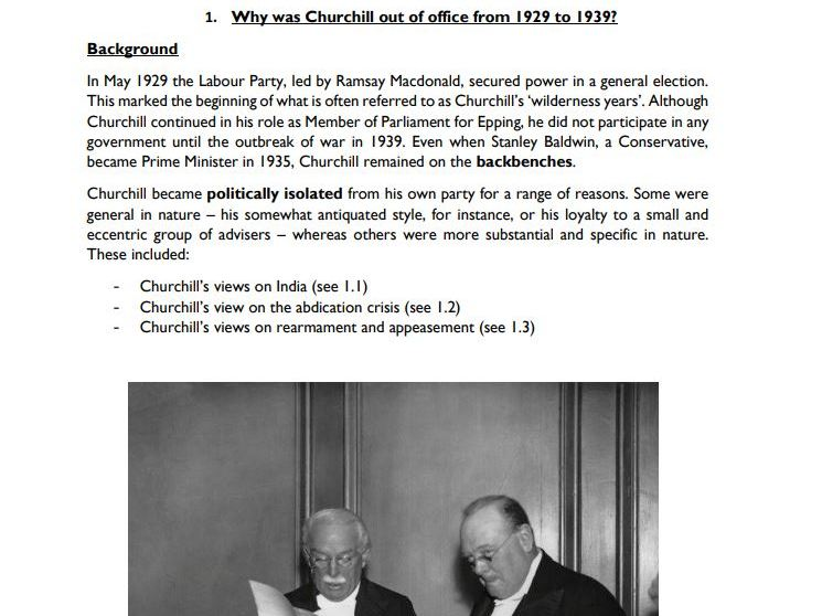 OCR A Level History: Churchill 1929-39