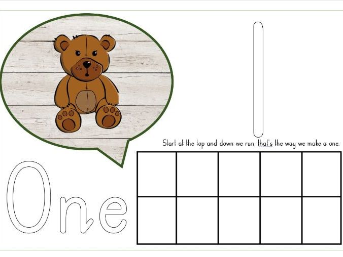 Playdough mat number recognition - with rhymes