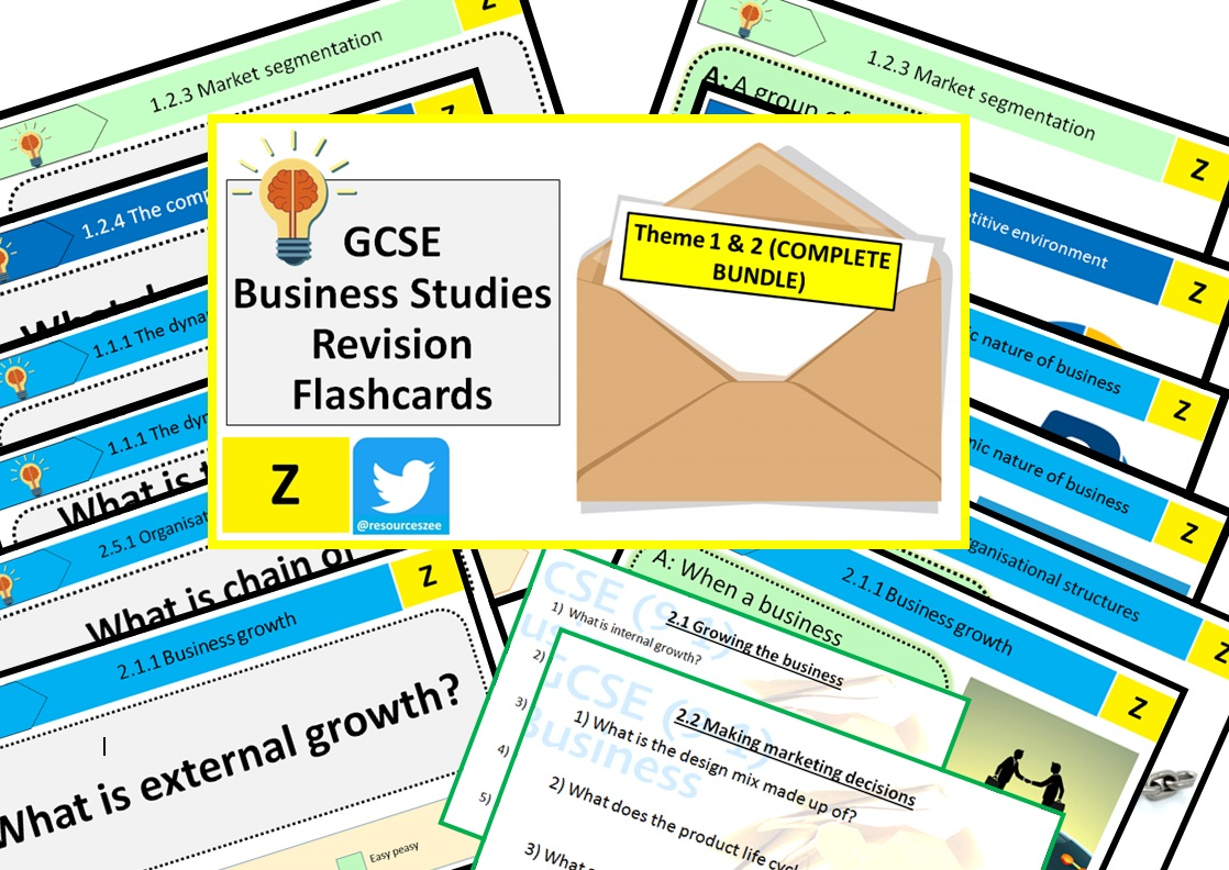 Edexcel GCSE Business 9-1 Knowledge revision - 204 flashcards