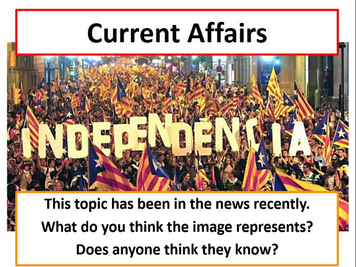 Current Affairs Form Time Activity - Catalan Independence Referendum