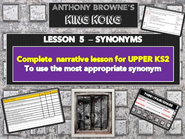 KING KONG - LESSON 5 - SYNONYMS
