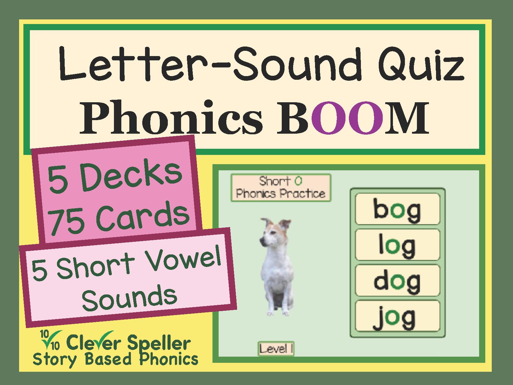 Phonics Practice Boom Cards Short Vowel Sounds Level 1