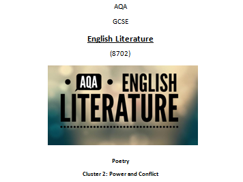 AQA Poetry Antology - Power and Conflict