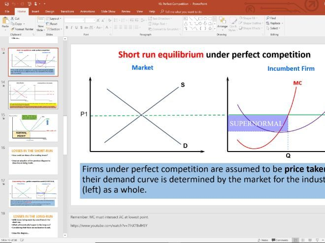 10. Perfect Competition (Slides, Activities and Notes) - Edexcel A-Level Economics - Theme 3