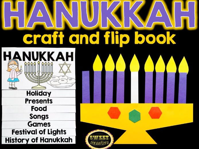 Hanukkah activities (craft and flap book)