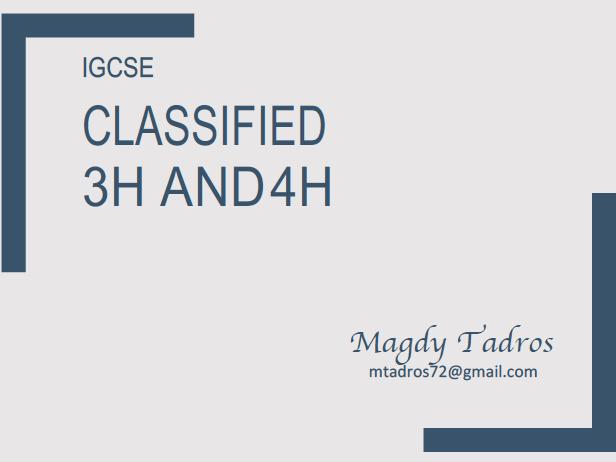 IGCSE Edexcel Practice Question by Unit (Part 3)