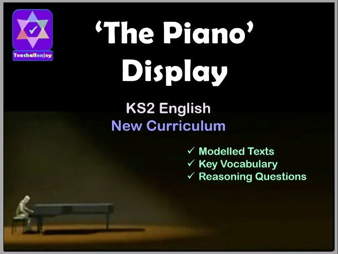 Display for 'The Piano' English unit