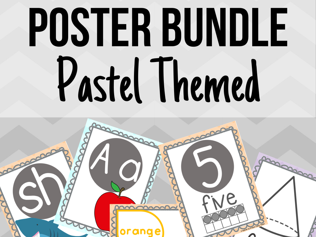 Pastel Poster Bundle Classroom Decor