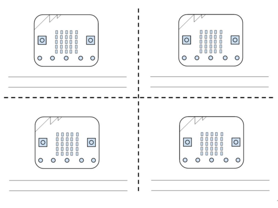 Micro:bit planning worksheet