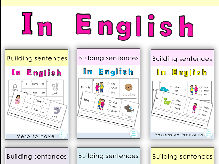 ESL Building Sentences Bundle