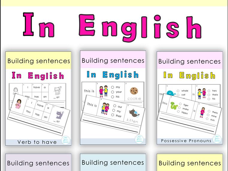 ESL Building Sentences Bundle