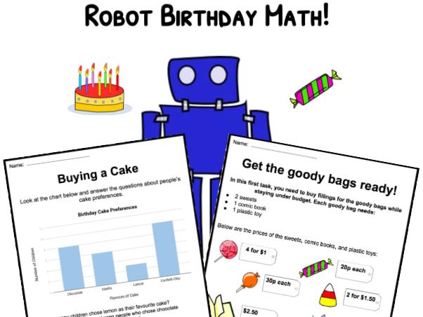Robot Math - Planning a Party!