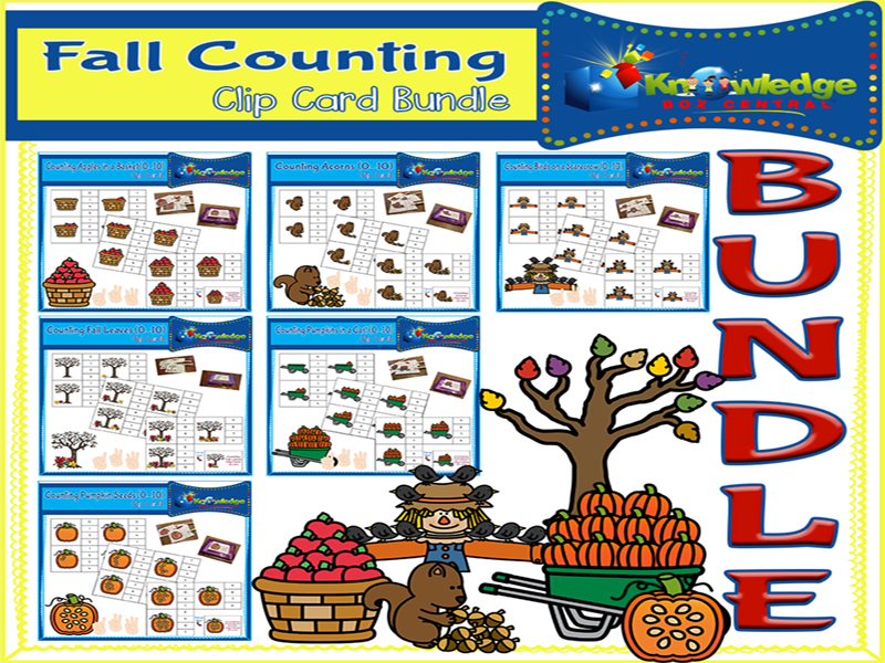 Fall Counting Clip Card Bundle