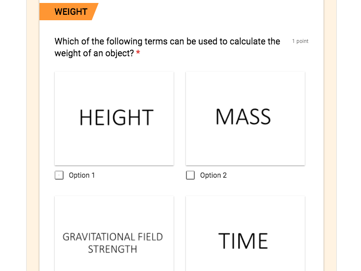 GCSE Combined Science Physics Equation online quizzes and card sort