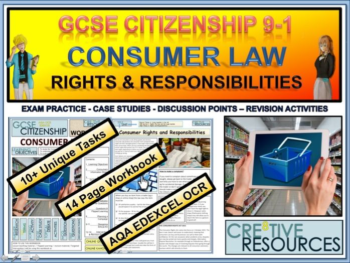 Consumer Rights and Responsibilities Work booklet