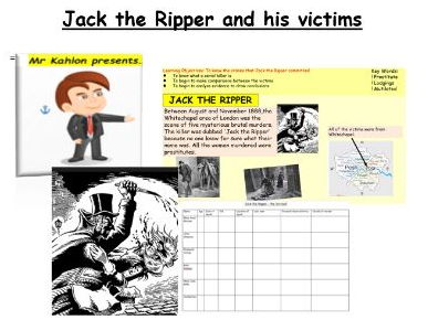 Jack the Ripper and his victims  full lesson