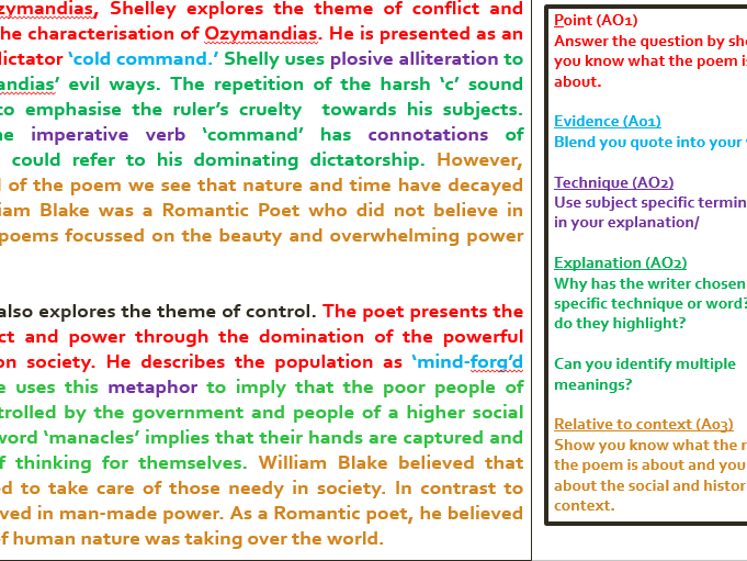 comparison of poems the magpies and ozymandias essay How to structure a comparison essay for an a how to get grade 9 when comparing poems using the grade 9 essay comparing ozymandias.