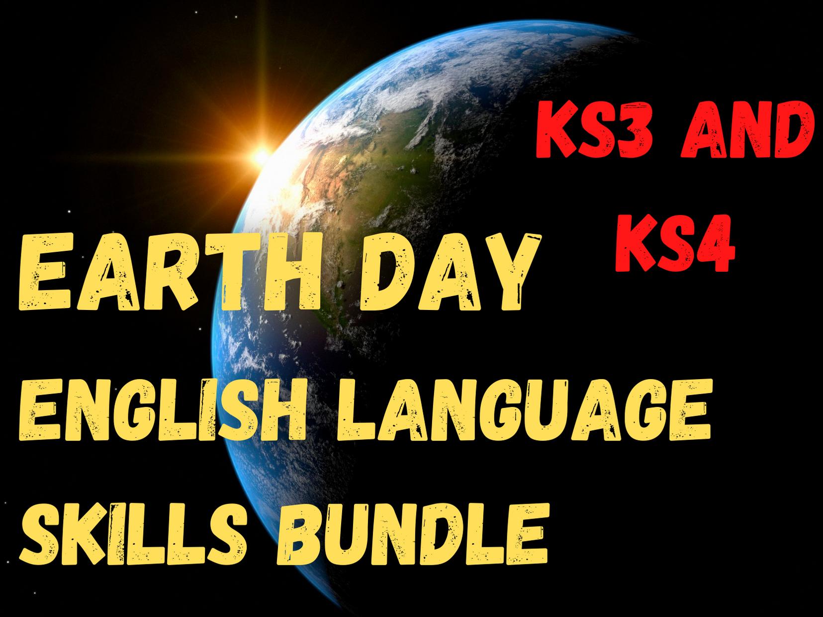 Earth Day Bundle   English Language Skills   Secondary