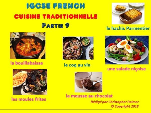 IGCSE French: Food and drink (Part 9): Traditional French cuisine