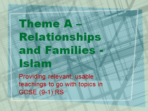 AQA GCSE RS (9-1) Relevant teachings for Theme A - Families and Relationships - Islam