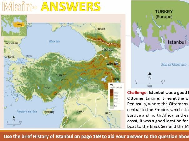 NEW OCR B Enquring Minds URBAN FUTURES 2017 11) Istanbul on the Map WITH ANSWERS