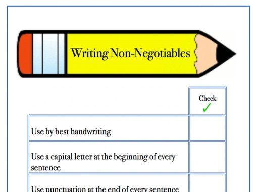 EDITABLE: Writing Non-Negotiables