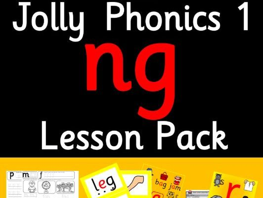 Phonics Worksheets, Lesson Plan, Flashcards | Jolly Phonics ng Lesson Pack
