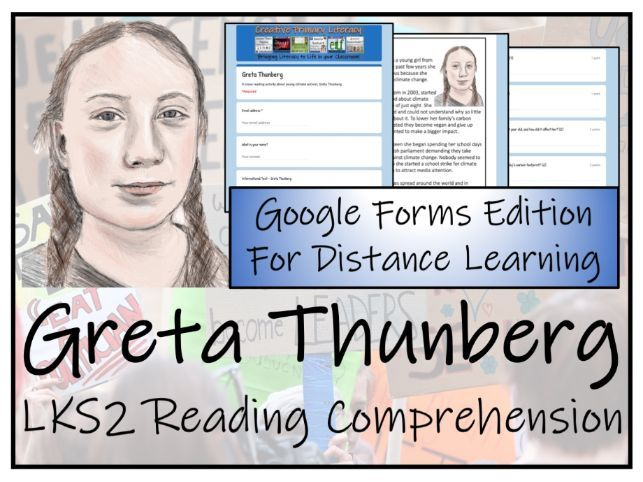 LKS2 Greta Thunberg Reading Comprehension & Distance Learning Activity