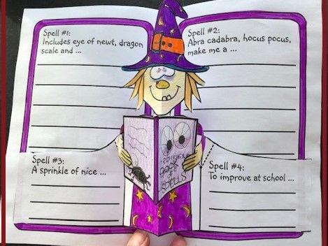 Halloween Crafts Book of Spells POP-UP