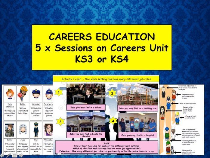 Careers unit of work