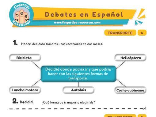 Transporte - Debates in Spanish