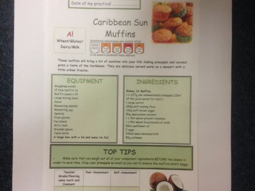 Caribbean Sun Muffins FULL Recipe Sheet