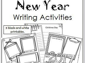 Christmas and New Year Writing Activities
