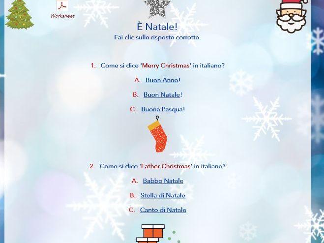 Italian Christmas Quiz