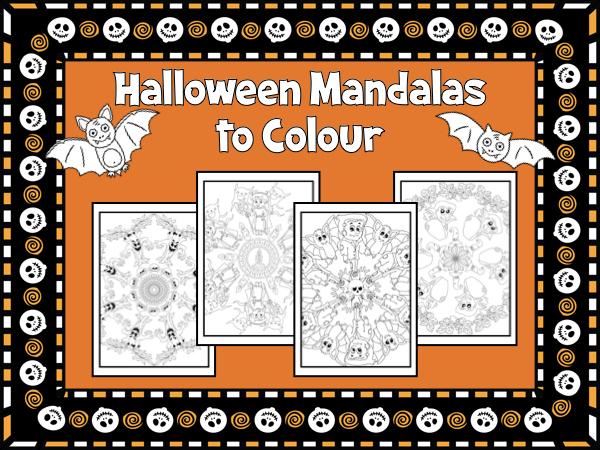 Halloween Mandalas to Colour