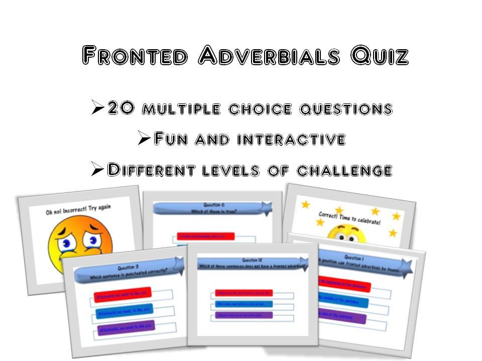 Fronted Adverbials Quiz