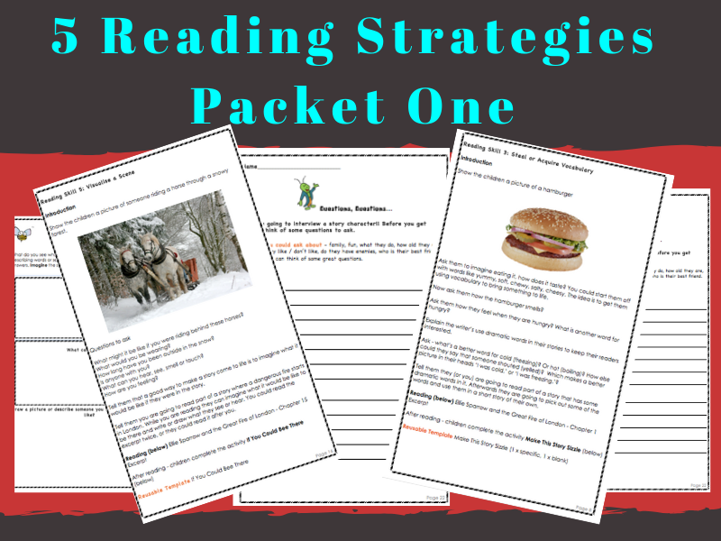 Reading Strategies Kit ONE: 5 Reading Comprehension Activities