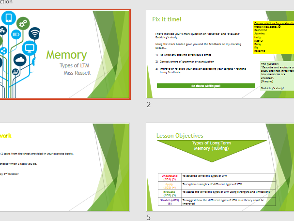 AQA GCSE Psychology (9-1) Whole Set of Lesson PPTs