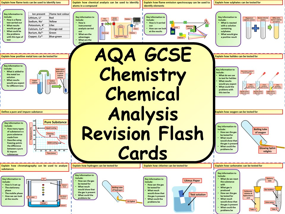AQA KS4 GCSE Chemistry (Science) Chemical Analysis Revision Flashcards