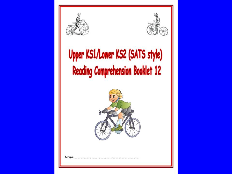 KS1/LKS2 SATs style reading comprehension booklet based on Bicycles.