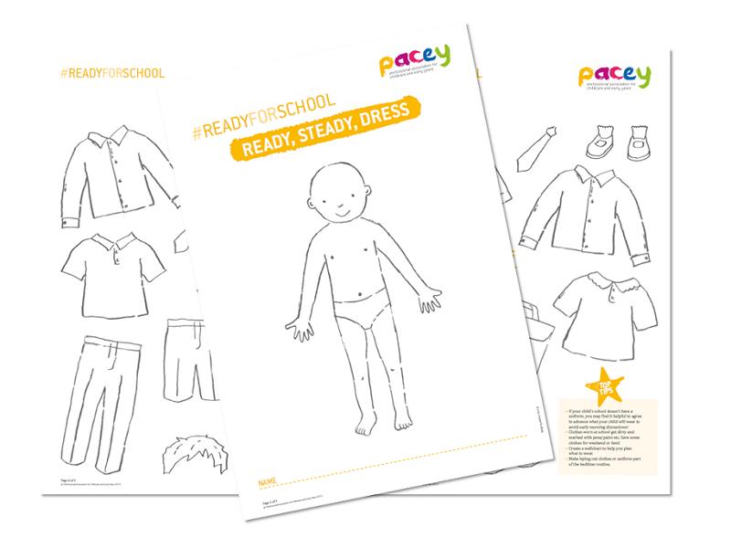 Ready, steady, dress ¦ Early years uniform activity