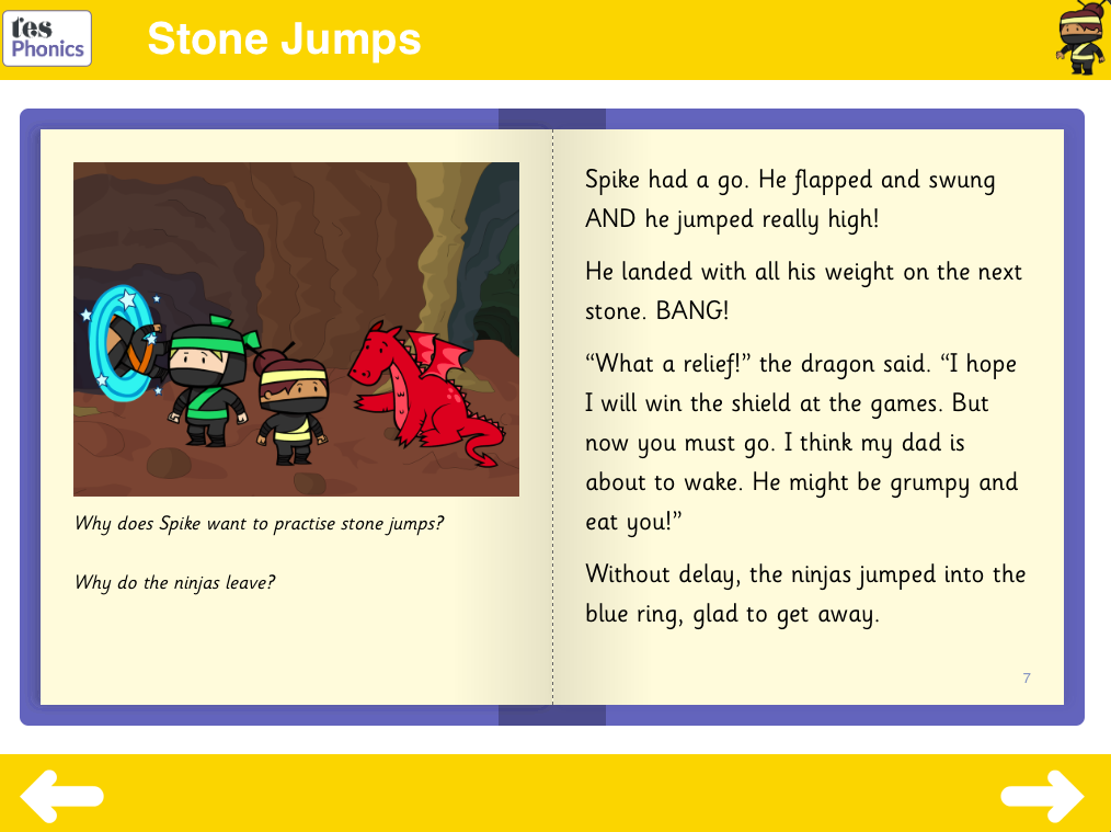 Stone Jumps Reading Book - Phase 5