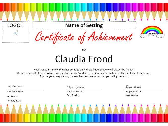 Nursery Leaving Certificate 2020