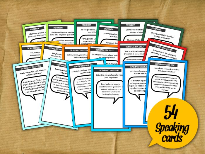 A2 Speaking cards