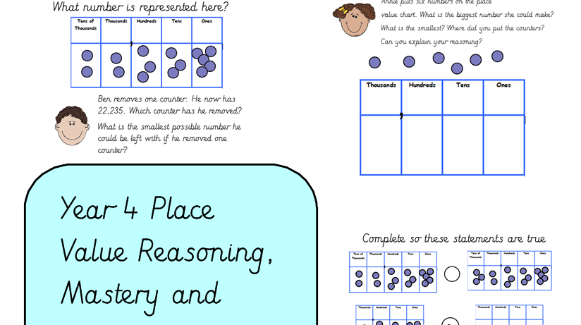 Year 4 Place Value Reasoning and Greater Depth Task Card by ...