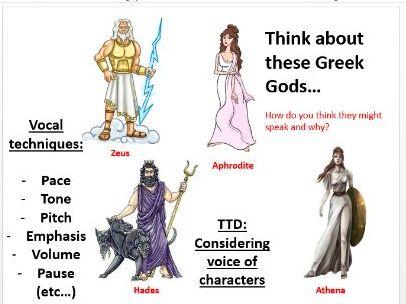 Greek Myths and Legends COMPLETE SOW - Drama KS3