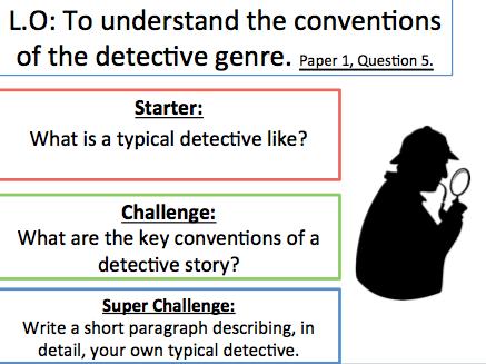 Sherlock - Mystery writing KS3 - Paper1, Question 5