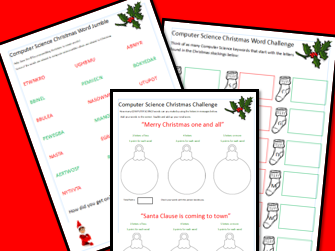 Computer Science Christmas BIG Worksheet Bundle